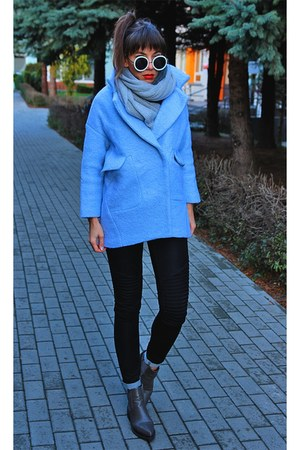 light blue GAMISS coat