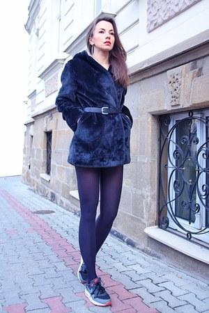 black faux fur elite99 coat