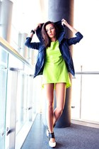 cut out reserved boots - lime green Front Row Shop dress