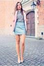 Light-blue-h-m-skirt