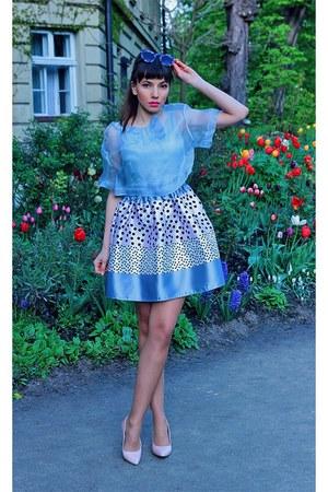 light blue silk VIPme dress