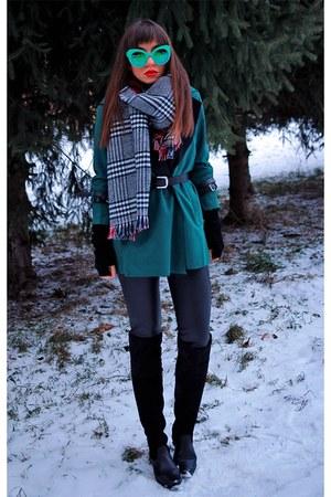 green suede DressLink coat
