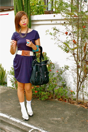 random brand dress - cotton on belt - cotton on bag - bangkok accessories - rand