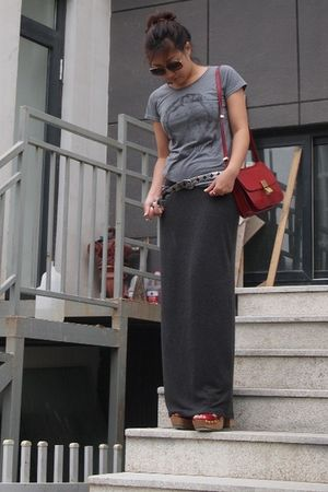 gray Zara skirt - Miu Miu shoes