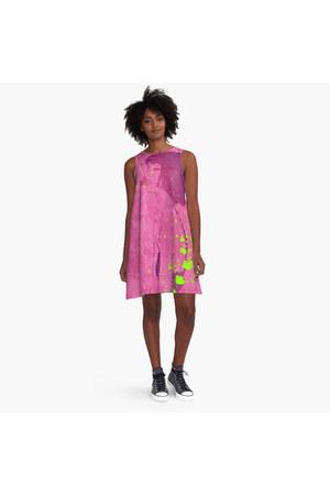 hot pink  w i l s o n  dress