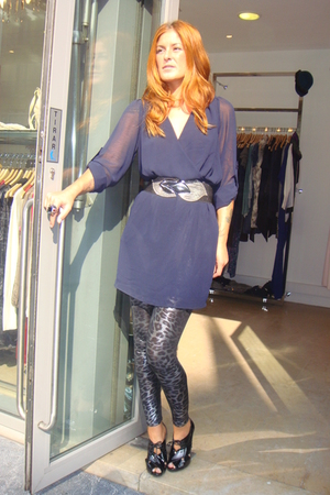 pili&mili dress - pili&mili leggings - office london belt - shoes
