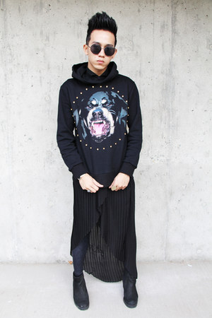 black Topshop boots - black Forever 21 skirt