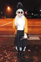 black pleated skirt Joe Fresh skirt - heather gray asymmetrical Topshop skirt