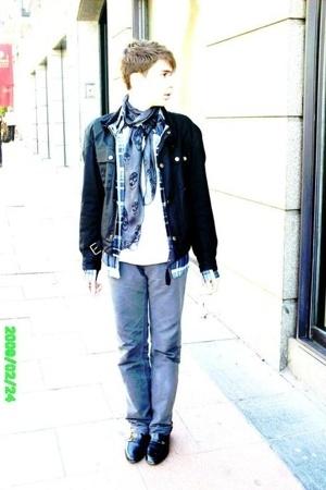 Alexander McQueen scarf - Marc by Marc Jacobs shirt - Belstaff jacket