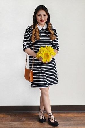 Forever 21 dress - tawny Forever 21 purse - black lace up Stevies flats