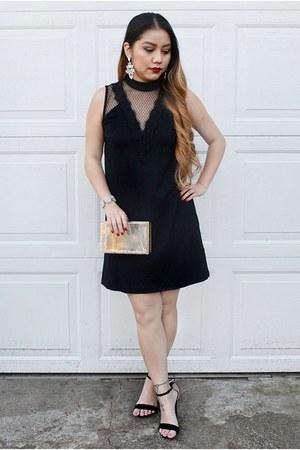 black lace v-neck Express dress - transparent Forever 21 purse