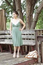pearl neckline Marshalls dress - korea bag - high heels from Korea heels