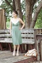 pearl neckline Marshalls dress - korea bag - high heels from Korea heels