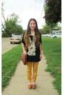 Burnt-orange-china-shoes-mustard-marshalls-jeans-crimson-china-shirt