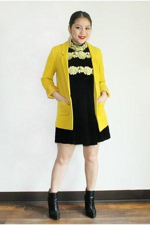 black asos boots - black golf flowers Zanzea Collection dress