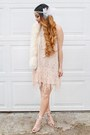 White-diy-bracelet-light-pink-urban-outfitters-dress