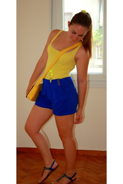 Yellow H&M Shirts, Yellow Leather Ted Baker Bags, Blue Fullah ...