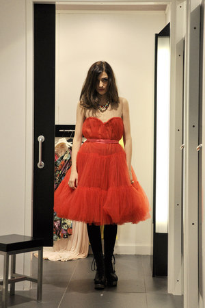red Lanvin for H&M dress