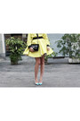 Yellow-neoprene-fausto-puglisi-dress-black-chanel-bag