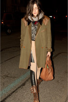 olive green Kenzo jacket - burnt orange vintage from Ebay shoes - nude Whats ins