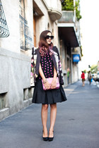 dark gray JoNofui dress - bubble gum Cavalli blazer - hot pink philipp plein bag