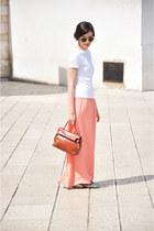 burnt orange kelly vintage from Ebay bag - silver paiettes Anniel flats - carrot