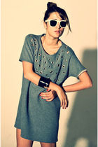 beige retrosuperfuture accessories - silver Whats inside you dress - black Bingl