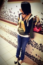 vintage sweater - Etro bag