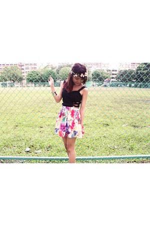 skirt Pastel skirt skirt - bralet Crossed bralet shirt