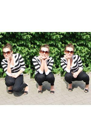 black Zara pants - white H&M blouse - white Zara shoes