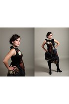 black Fashion Designer Group dress - black Calvib Klein shoes