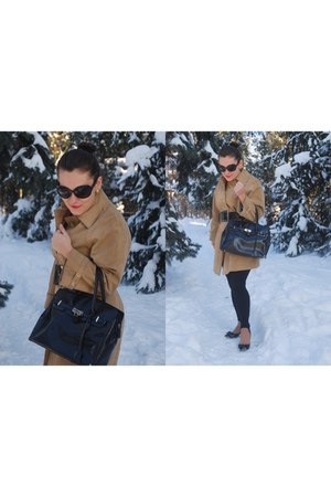 black vintage bag - vintage coat