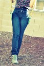 Heather-gray-ankle-boots-candies-boots-navy-high-waisted-kitson-jeans-black-