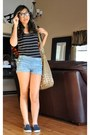 Studded-de-lux-bag-cuffed-denim-juicy-couture-shorts-slip-on-forever21-sneak