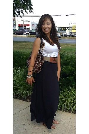 Macys skirt - leopard print Express bag - Macys bracelet - H&M top