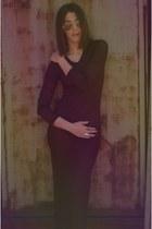 deep purple vintage dress
