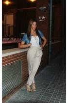 Zara pants - H&M t-shirt - Zara shoes - jacket - H&M necklace
