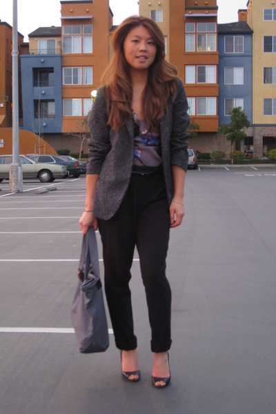 Urban Outfitters blazer - Rebecca Taylor top - Forever 21 pants - JCrew belt - E
