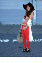 sam edelman wedges - Charlotte Russe hat - the sak bag - H&M pants