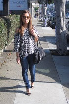 H&M top - 7 for all mankind jeans - Enzo Angiolini shoes - Nordstrom purse - Mar