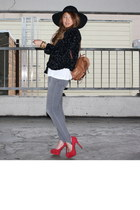 American Rag jacket - Gap leggings - Jessica Simpson heels - vintage bag - Forev