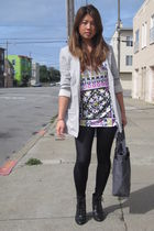 H&M blazer - Forever 21 top - INC for Macys leggings - Urban Outfitters boots -