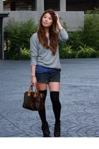 Pac Sun sweater - Pac Sun top - Aritzia shorts - Urban Outfitters boots