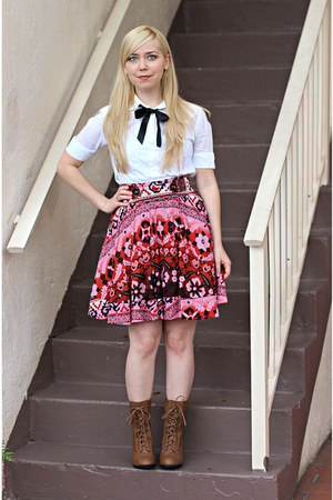 Forever21 skirt - boots - blouse