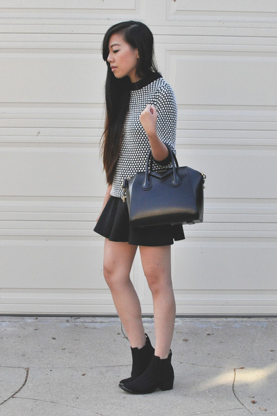 black Zara sweater - black H&M boots
