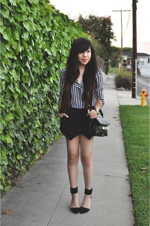 black PS11 purse - black Zara skirt