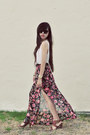 Floral-maxi-skirt-gucci-sunglasses-nine-west-sandals