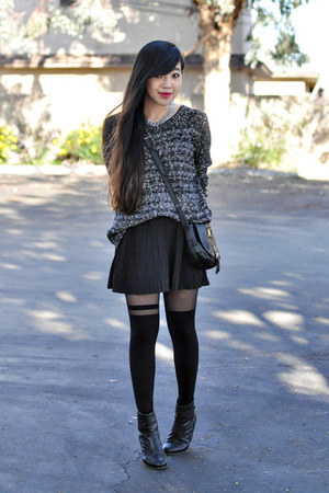 black rag & bone boots - black asos tights