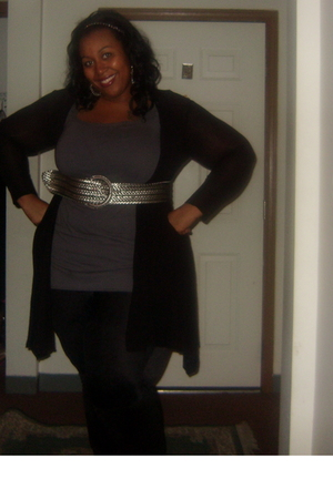 Forever 21 sweater - Old Navy dress - A Stewart belt - torrid leggings - torrid