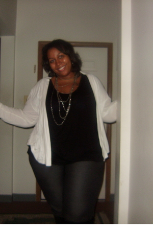 Old Navy top - Old Navy shirt - Forever 21 necklace - Lane Bryant pants - torrid